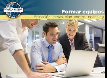 Identifica y selecciona miembros, entrénalos, promueve la comunicación, delega.