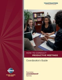 How to conduct productive meetings